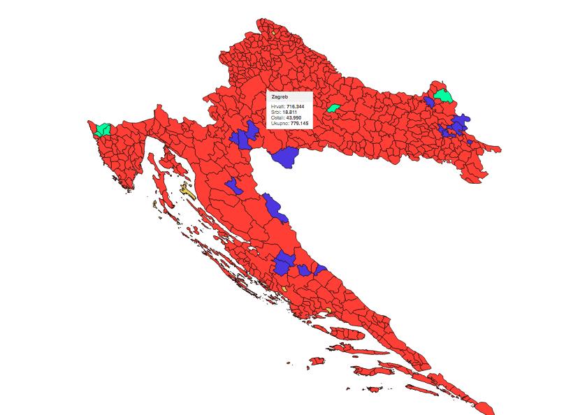 Klikom na kartu pregledajte narodnosni sastav stanovništva Hrvatske od 1880. do 2011. godine prema teritorijalnoj podjeli iz 2001. godine (općine/gradovi)