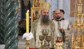 Patrijarh srpski Porfirije služio prvu liturgiju